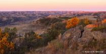 Sunrise North Dakota badlands at Bennett Creek