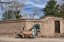 Repair of Adobe Wall