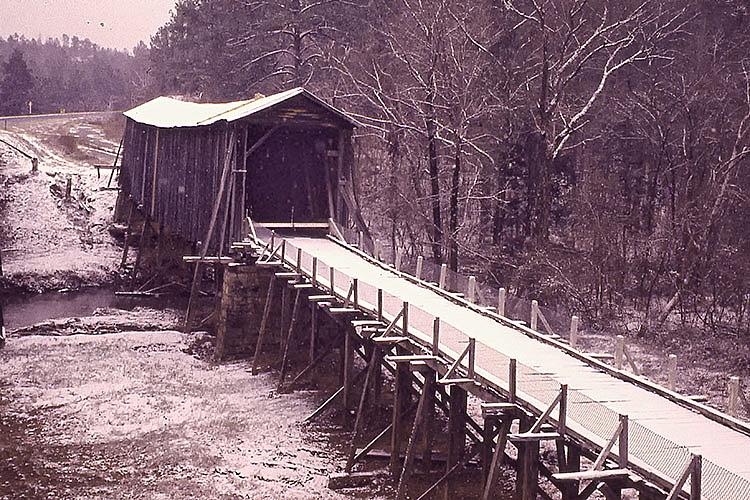 Long Cane Creek Covered Bridge - ID: 15735840 © george w. sharpton
