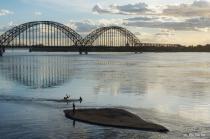 Evening at Ayeyarwaddy bridge.