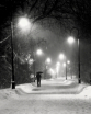 Snowy night in Bo...