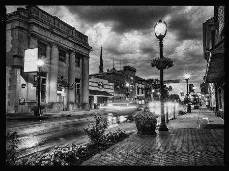 Rainy Night in Small Town America