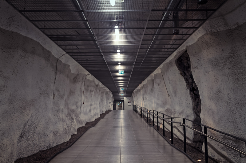 Door Of An Underground Parking Hall