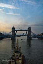 Setting off. Tower Bridge at Dawn.