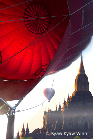 Temple and Balloon