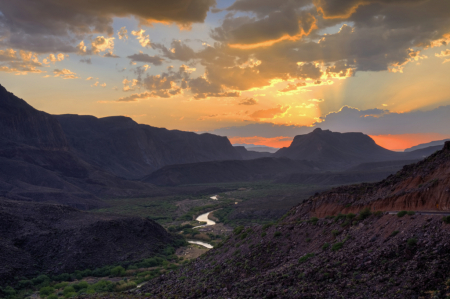 Rio Grande Sunset From Big Hill