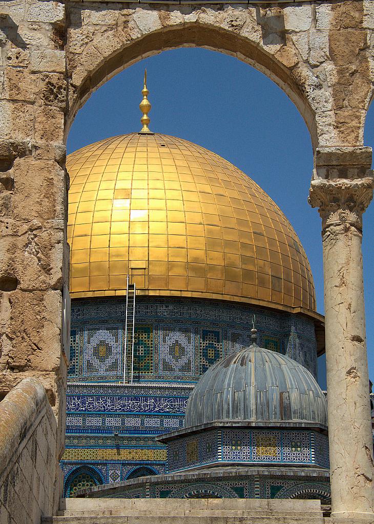 Framed Golden Dome Jerusalem