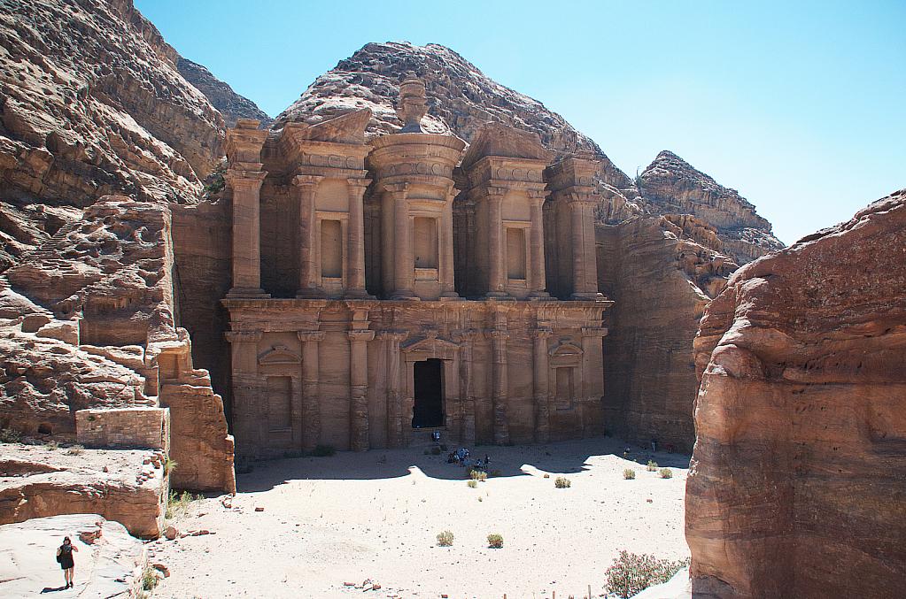 At the top of Petra