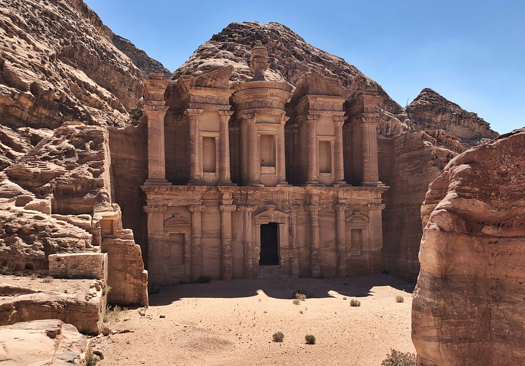 Blue Sky at the Monastery in Petra
