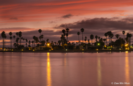 Sunset at MissionBay