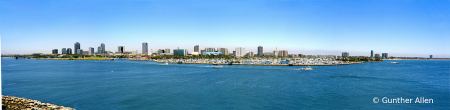 Long Beach Harbor in Summer Pano