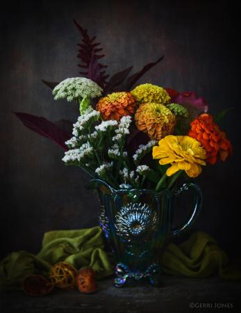 Floral Harvest Still Life