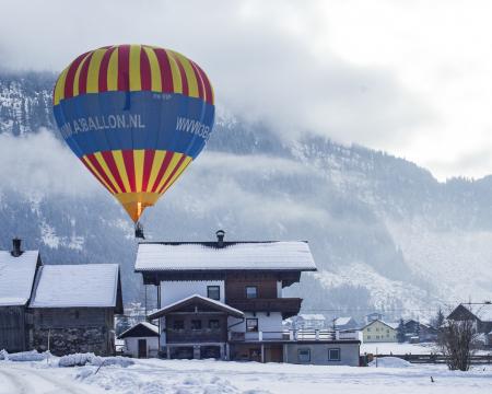 Balloon in Winter Landscape