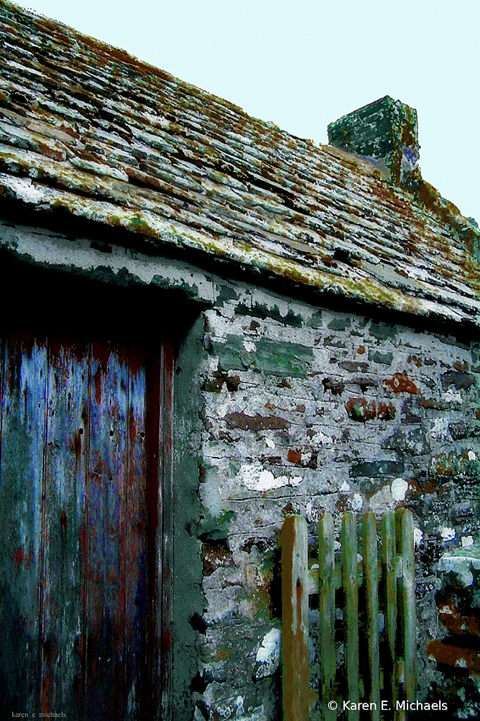 Stone and Wood on Harsh Land - ID: 15741266 © Karen E. Michaels