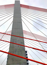 Cable-stayed bridge lines