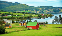 Country side in central Norway.