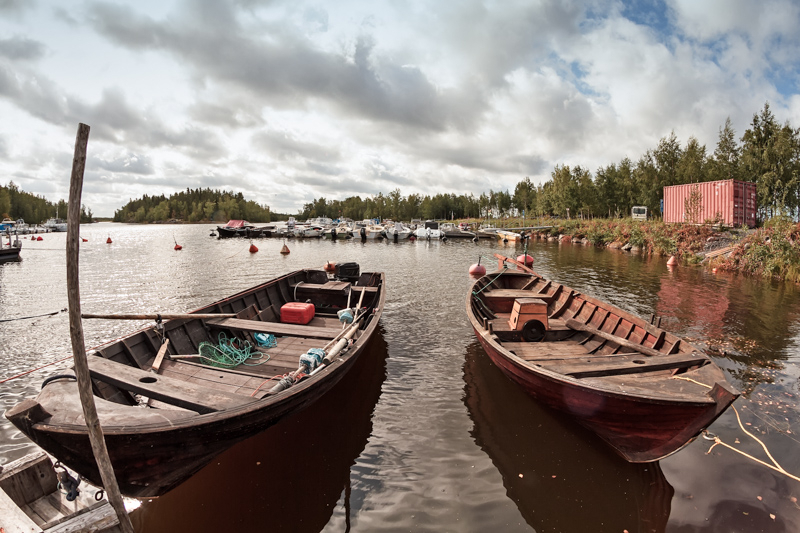 Two Old Fishing Boats