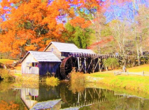 MABRY MILL POND<br>COOL FALL REFLECTIONS