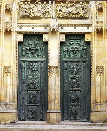 Door of St. Vitus Cathedral Prague