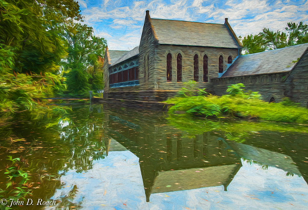 Reflections at the Old Pump House - ID: 15746914 © John D. Roach