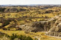 Long range view of the North Dakota badlands