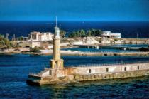 Lighthouse At Alexandria, Egypt