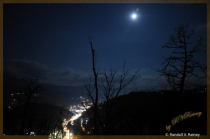 Moonrise over Gatlinburg