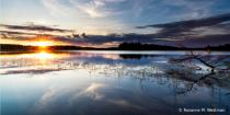 Sunset on Lake Mantrap Minnesota