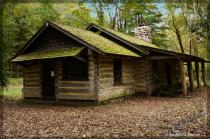 Old cabin at Glen Mills . . .