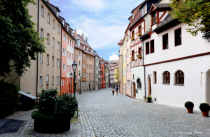Cobblestone Streets Of Nuremberg, Germany