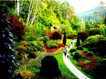 Strolling the gardens