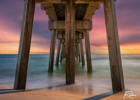Panama City Beach Pier at Sunset