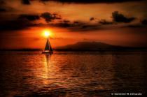 ~ ~ SAILBOAT AT SUNSET ~ ~
