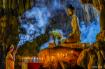 Praying at Buddha...