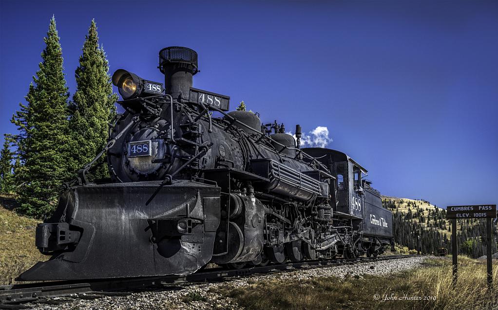 Engine 488 at Cumbres Pass