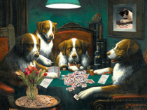 Dogs Playing Mah Jongg
