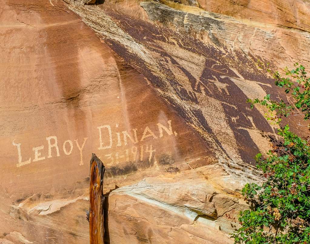 unique signatures carved into rock