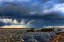 Incoming Rain And Waves
