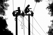 Electric workers
