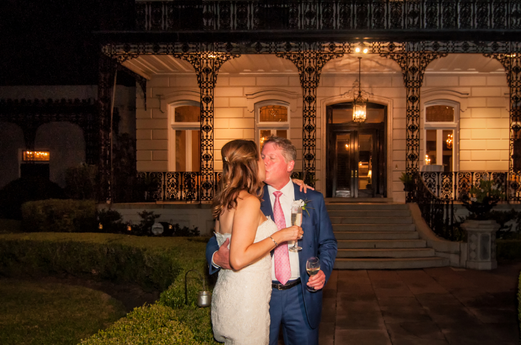 Bride and Groom Outside of New Orleans Venue - ID: 15773144 © Kathleen K. Parker