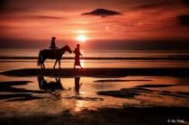 goldern hour on beach