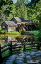 Summer at Mabry Mill Vert. HDR