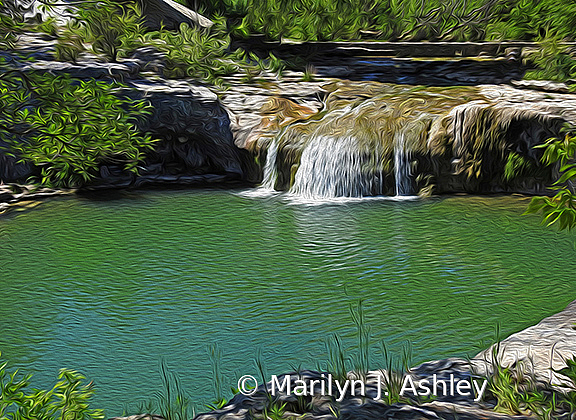 Tonkawa Falls - ID: 15779696 © Marilyn J. Ashley