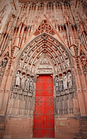 The entrance side of the cathedral.