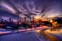 Niagara Park Lights In Winter