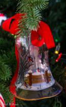 Beautiful Painted Christmas Bell