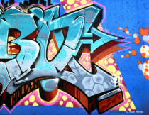 Colorful spray can art