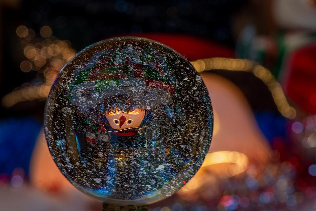 Lens Ball Snow Globe