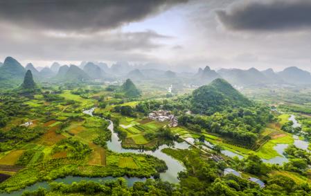 Field terrace in Guilin