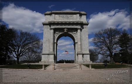 Valley Forge Battlefield Memorial . . .